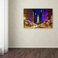 Philippe Hugonnard 'City Hall Philadelphia' Canvas Art - Multi