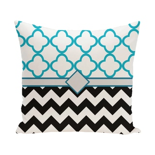 16 x 16-inch Express Line Geometric Print Outdoor Pillow