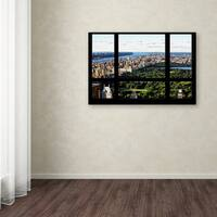 Philippe Hugonnard 'Central Park Window View' Canvas Art - Multi