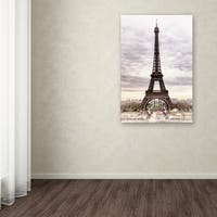 Philippe Hugonnard 'The Eiffel Tower' Canvas Art - Multi