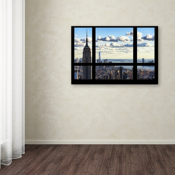 Philippe Hugonnard 'Window View Manhattan' Canvas Art