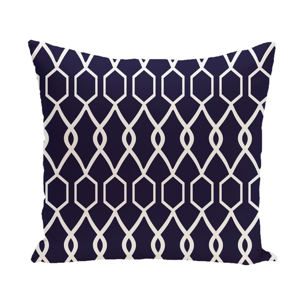 16 x 16-inch Charleston Geometric Print Outdoor Pillow