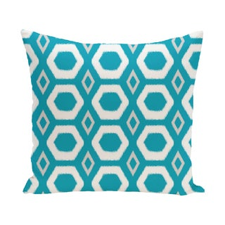 16 x 16-inch More Hugs and Kisses Geometric Print Outdoor Pillow