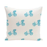 16 x 16-inch Bicycles! Geometric Print Outdoor Pillow