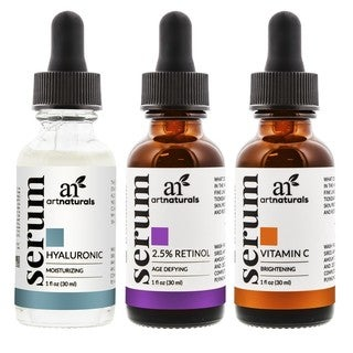 Art Naturals Anti-Aging Vitamin C, Retinol, and Hyaluronic Acid Serum Set