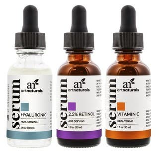 artnaturals Anti-Aging Vitamin C, Retinol, and Hyaluronic Acid Serum Set|https://ak1.ostkcdn.com/images/products/12013856/P18889750.jpg?impolicy=medium
