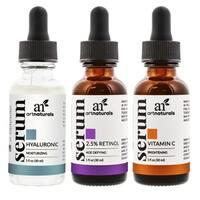 artnaturals Anti-Aging Vitamin C, Retinol, and Hyaluronic Acid Serum Set