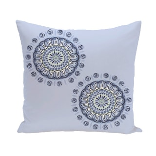 16 x 16-inch Sea Flower Geometric Print Outdoor Pillow