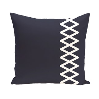 16 x 16-inch Lace Up Geometric Print Outdoor Pillow