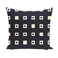 16 x 16-inch Hip to be Square Geometric Print Outdoor Pillow