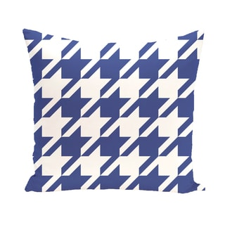16 x 16-inch Houndstooth Geometric Print Outdoor Pillow