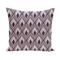 16 x 16-inch Candlelight Geometric Print Outdoor Pillow