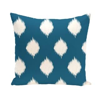 16 x 16-inch Ikat Dot Geometric Print Outdoor Pillow