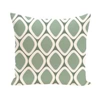 16 x 16-inch Pebbles Geometric Print Outdoor Pillow