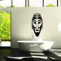 Style & Apply Black Vinyl African Mask II Removable Wall Decal