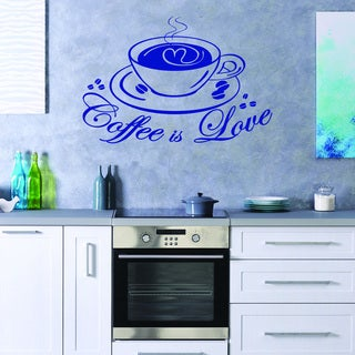 Coffee Love' Quote and Sayings Vinyl Sticker Wall Decal