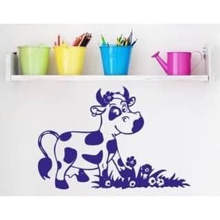 Happy Cow Vinyl Art Wall Decor Overstock 12013899