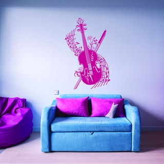 Style and Apply 'Spring Melody' Pink Vinyl Removable Wall Decal