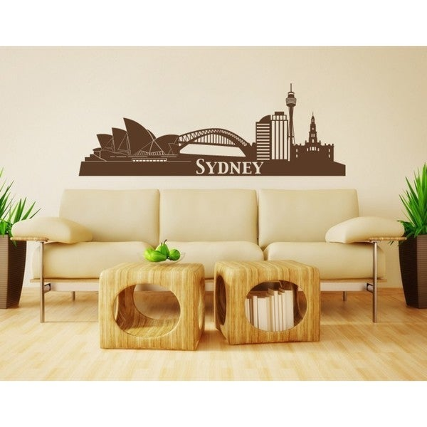 Style and Apply \'Sydney City Skyline\' Vinyl Wall Art Decal - Free ...
