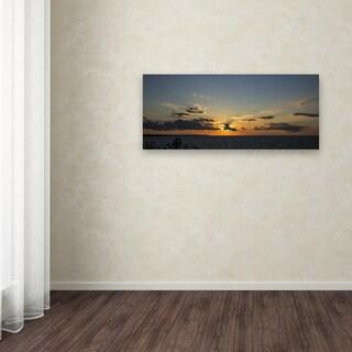 Kurt Shaffer 'Sunset Horizon' Canvas Art