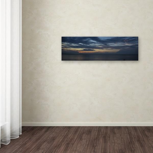 Kurt Shaffer 'Sunset Behind a Front' Canvas Art