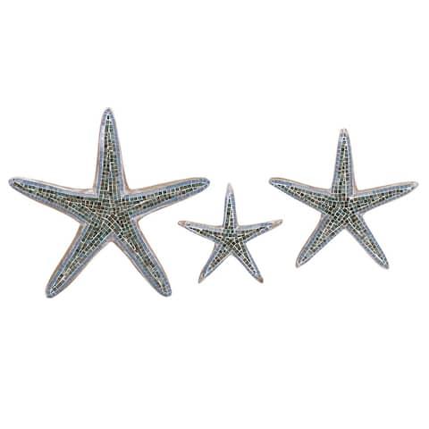 Mosaic Star Fish Wall Decor (Set of 3)
