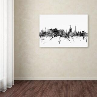 Michael Tompsett 'Edinburgh Scotland Skyline B&W' Canvas Art