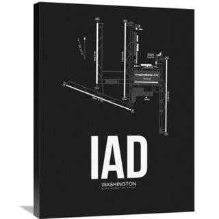 Naxart Studio 'IAD Washington Airport Black' Stretched Canvas Wall Art
