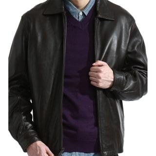 Tanners Avenue Men's Dean Black Lamb Leather Jacket