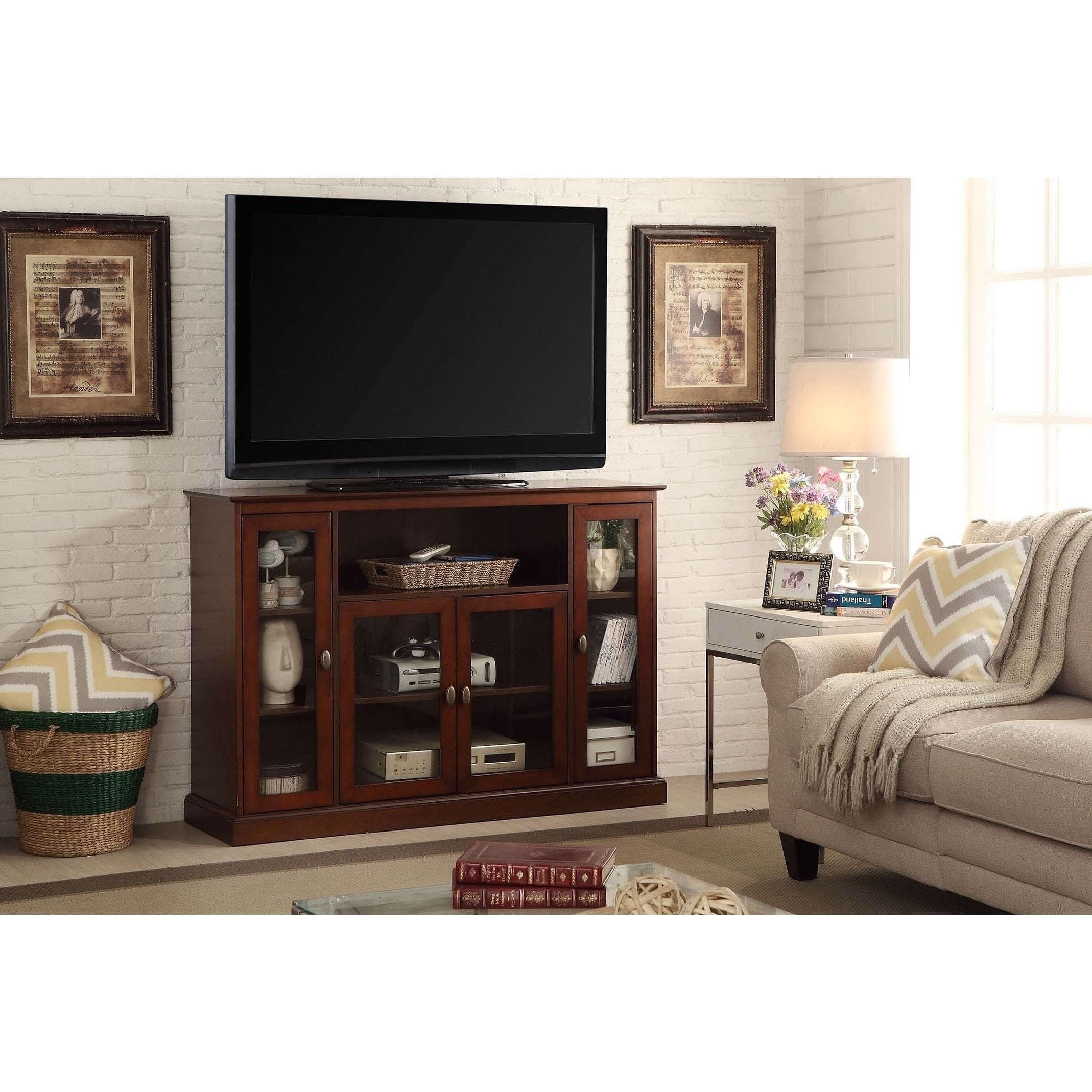 Shop Convenience Concepts Designs2go Summit Highboy Tv Stand Free