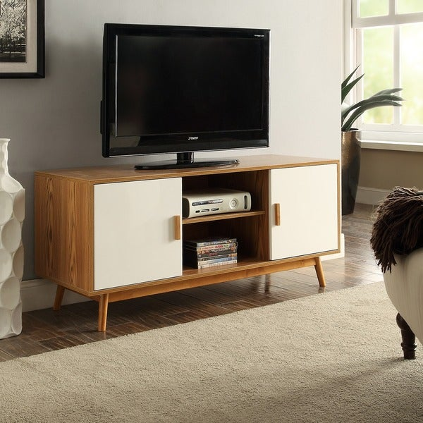 Carson Carrington Odda Wood/ White TV Stand