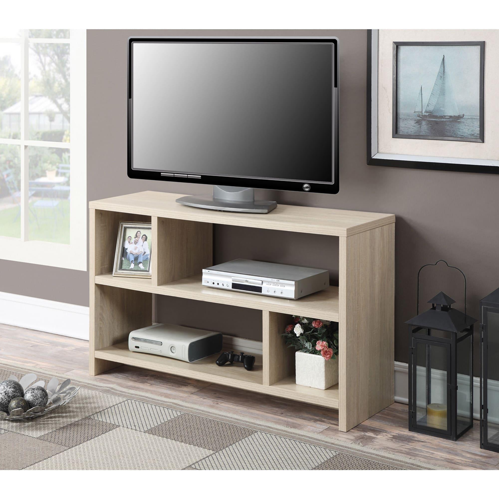 Porch & Den Robertson TV Stand Console (Cherry Finish - Cherry)