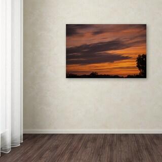 Kurt Shaffer 'Sky on Fire' Canvas Art