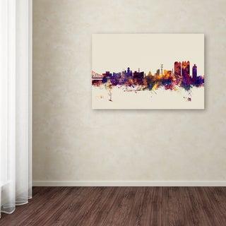 Michael Tompsett 'Calcutta India Skyline' Canvas Art