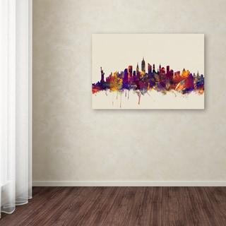 Michael Tompsett 'New York City Skyline' Canvas Art
