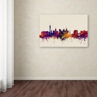 Michael Tompsett 'Las Vegas Nevada Skyline' Canvas Art