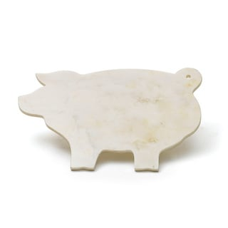 Hip Vintage Off-white Stoneware Piggy Cheeseboard