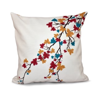 16 x 16-inch Maple Hues Floral Print Outdoor Pillow