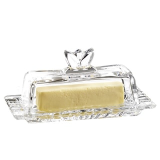 Genevieve Clear Glass Butter Dish
