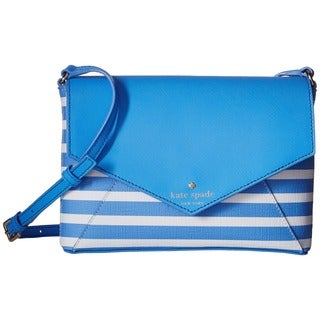 Kate Spade New York Women's Fairmount Alice Blue/Sandy Beach Square Large Monday Crossbody Handbag
