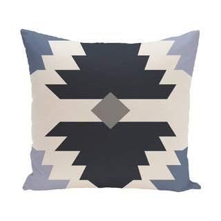 16 x 16-inch Mesa Geometric Print Outdoor Pillow