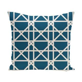 16 x 16-inch Trellis Geometric Print Outdoor Pillow
