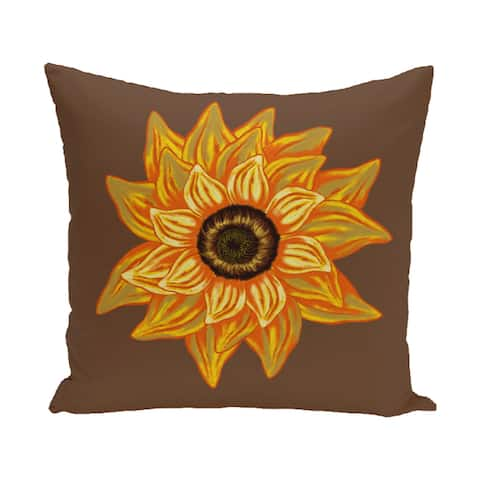 16 x 16-inch el girasol feliz Floral Print Outdoor Pillow
