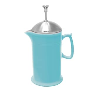 Chantal Aqua Ceramic 28-ounce French Press with Stainless Steel Plunger and Lid