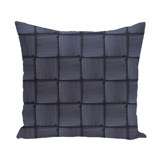 16 x 16-inch Basketweave Geometric Print Outdoor Pillow