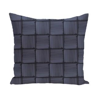 16 x 16-inch Basketweave Geometric Print Outdoor Pillow