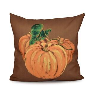 16 x 16-inch Tres Calabazas Holiday Print Outdoor Pillow