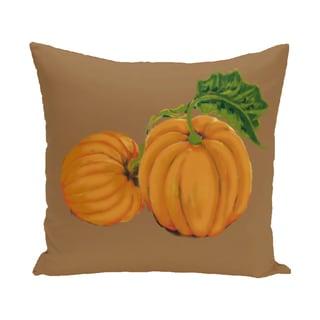 16 x 16-inch Pumpkin Patch Holiday Print Indoor/Outdoor Throw Pillow