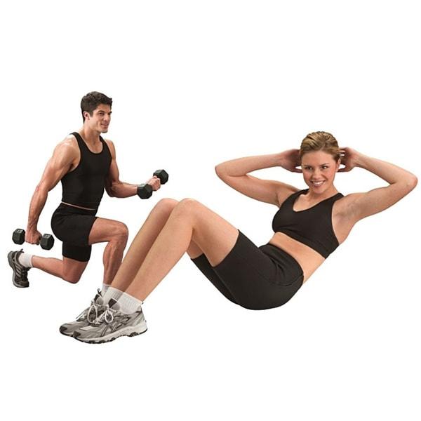 Valeo Women's Black Nylon Neoprene Exercise Shorts