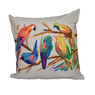 16 x 16-inch Happy Birds Animal Print Outdoor Pillow